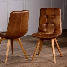 dining chairs brown. Italian Leather Buttoned Curved Seat Dining Chair Chairs Brown