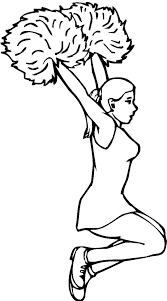 Yet 2010s girls adore hello kitty ! Cheerleader Jump From Human Pyramid Coloring Pages Best Place To Color Coloring Pages Cool Coloring Pages Sports Coloring Pages