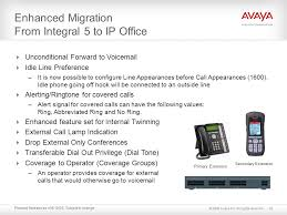 enhanced migration from integral 5 to ip office