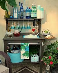 diy patio bar table. DIY Potting Bench Turned Outdoor Bar Diy Patio Table