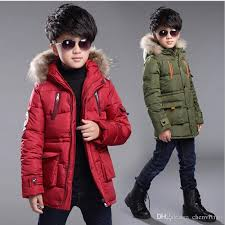 2017 brand boy winter warm jacket kids coat with fur hood boy winter thick coat kid school keep warm outerwear girls down coat clearance toddler