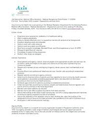Medical Office Administration Duties Medical Administration Job Description Canada Administrator Resume