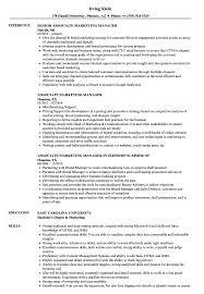 Associate Marketing Manager Resume Samples Velvet Jobs