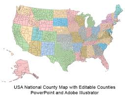 Us Map Editable In Powerpoint Usa County World Globe Editable Powerpoint Maps For Sales And
