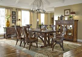 b o railroad old world dining table and chairs in cherry