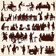 architecture people. Unique People People Silhouettes Vector People Eating Discussing Serving In Architecture