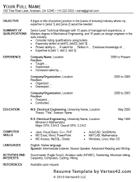 Resume Formats Word Cool Free Resume Template For Microsoft Word