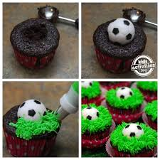 Mini Soccer Ball Decorations Delectable SOCCER CUPCAKES Party Ideas Pinterest Soccer Cupcakes