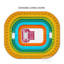 Seating Chart For Edward Jones Dome Edward Jones Dome