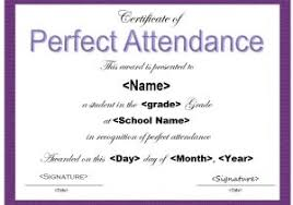 free perfect attendance certificate perfect attendance certificate template 13 free sample perfect