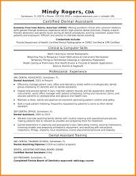Resume Resume For Dentist