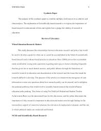 educational research synthesis essay eddc a nine lives of schola  3 synthesis essay