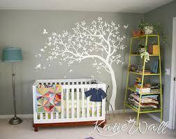 nursery white tree wall decal tree wall