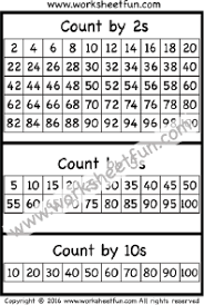 Skip Counting By 16 Chart Skip Counting By 2 5 And 10 One Worksheet Free