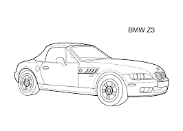 Super Car Bmw Z3 Coloring Page