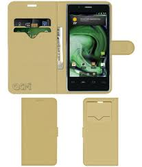 Xolo X500 Flip Cover by ACM - Golden ...