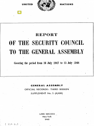 Report Of Sc To Ga 16 July 1947 15 July 1948 United Nations