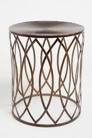 metal drum table. Interior, Beautiful Metal Drum Accent Table Marlow Round Ring Bronze Side Likeable 11: