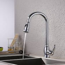 kes brass bar sink faucet with pull down sprayer head modern single tall large commercial pullout kitchen