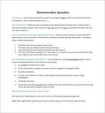 Demonstration Speech Outline Powerpoint Presentation Outline Template Aconcept Co