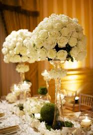 nice look of simple but elegant wedding centerpieces adorable design ideas using white flowers and