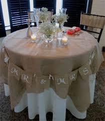 burlap fabric table cloth overlay decorative cover 46