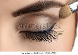 eyebrow makeup long eyelashes brush