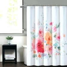 bold color shower curtains print fl decorating outstanding x curtain white