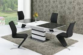round extending dining table and chairs arctic black white to extending table extending dining table sets