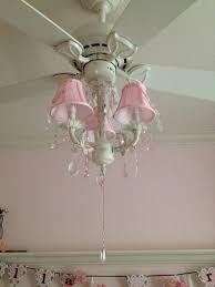 girls ceiling fan chandelier