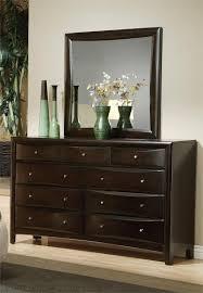 Bedroom Espresso Bed With Black Upholstered Headboard Bedroom