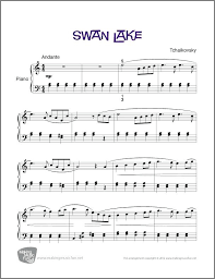 Swan Lake Easy Piano Sheet Music Digital Print Free Printable Notes