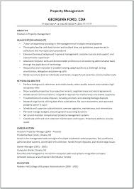 Property Management Resume Samples Property Management Resume Sample Download Assistant Property