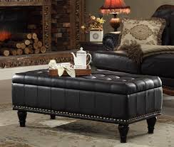 Inspiring Black Leather Ottoman Coffee Table For Your Living Room. Classic  Black
