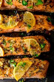 Heat the oven to 180c/160c fan/gas 4. Honey Garlic Butter Baked Salmon Nicky S Kitchen Sanctuary