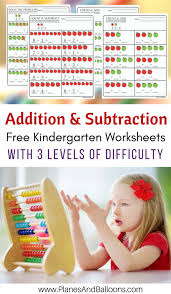 Kindergarten Math Worksheets PDF: Addition and Subtraction to 10