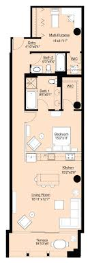 Best  Condo Floor Plans Ideas On Pinterest - Rental apartment one bedroom apartment open floor plans