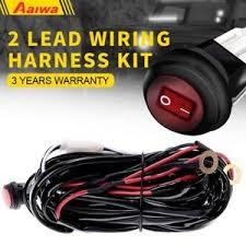 2 lead led light bar wiring harness kit 12v on off switch power order on amazon at Light Bar Wiring Harness Bulk