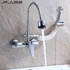 Wall Faucet Kitchen Faucet Mixer Three way Chrome Brass kitchen