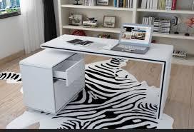 white corner office desk. Vienetta White Gloss Corner Office Desk, Multi Colour Drawers *FREE UK SHIPPING Desk 1
