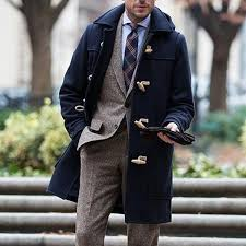 Double Breasted Lapel High End Counter In The Long Woolen