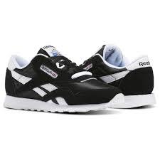reebok shoes black and white. reebok - classic nylon black/white 6606 shoes black and white