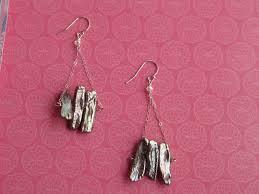 brown freshwater stick pearl chandelier earrings