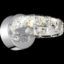 brizzo lighting stores  anelli modern crystal round wall sconce