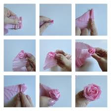 Make Crepe Paper Flower Crepe Paper Flower And Ruffle Letters Val Event Gal
