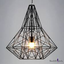 pendant cage light vintage industrial style large cage led pendant light with reel iron copper cage