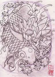японский карп тату фото