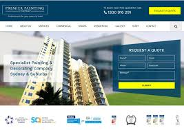 website design example painting company