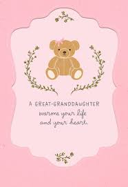 New Baby Congratulations Cards Teddy Bear New Baby Great Granddaughter Congratulations Card