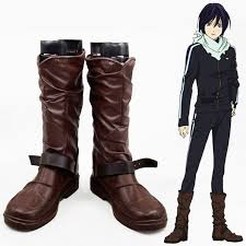 Noragami Height Chart Us 44 99 10 Off Anime Noragami Yato Cosplay Shoes Men Women Leather Boots Custom Size Free Shipping In Shoes From Novelty Special Use On